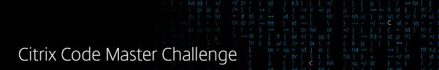 Citrix Code Master Challenge