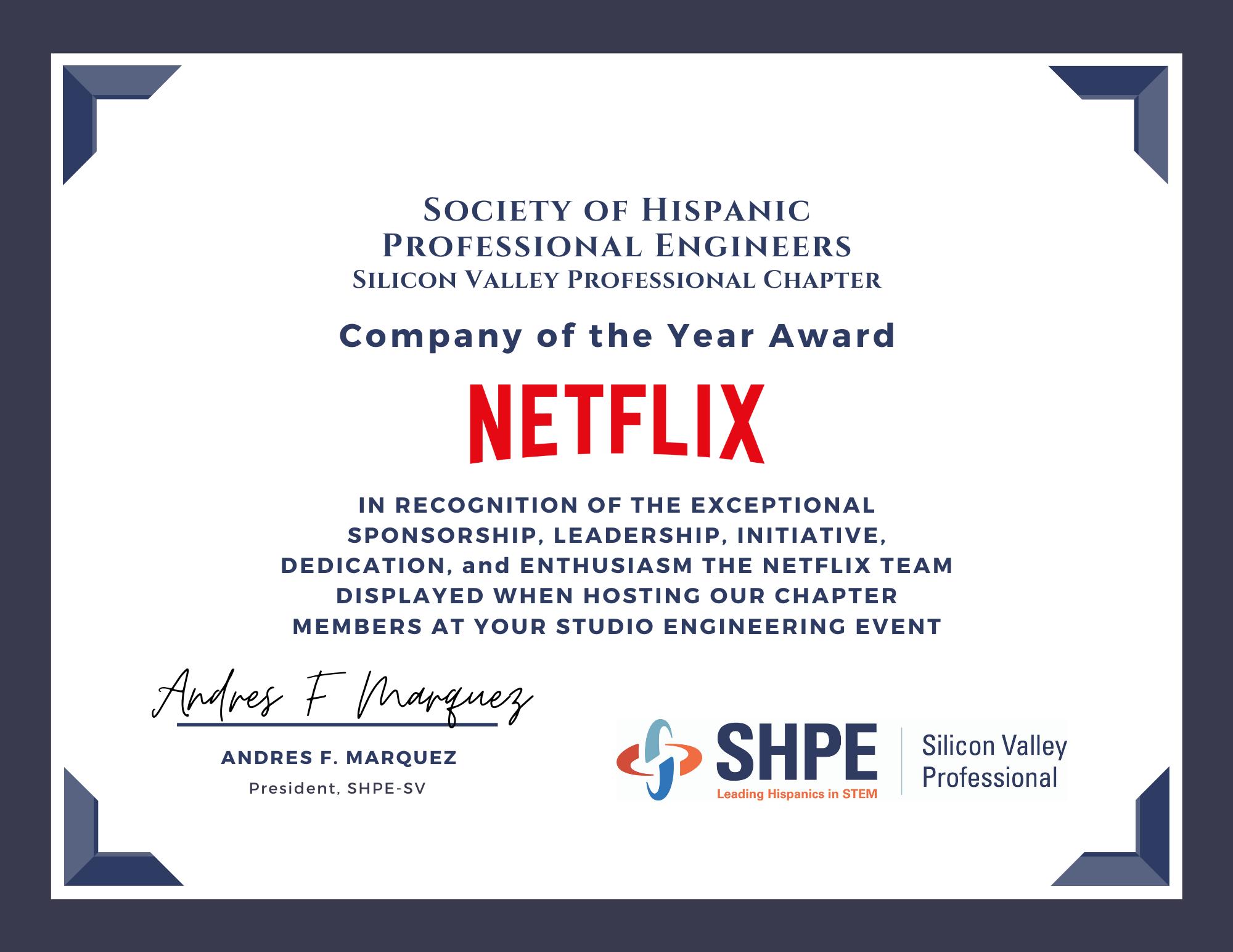 Lyft SHPE Award